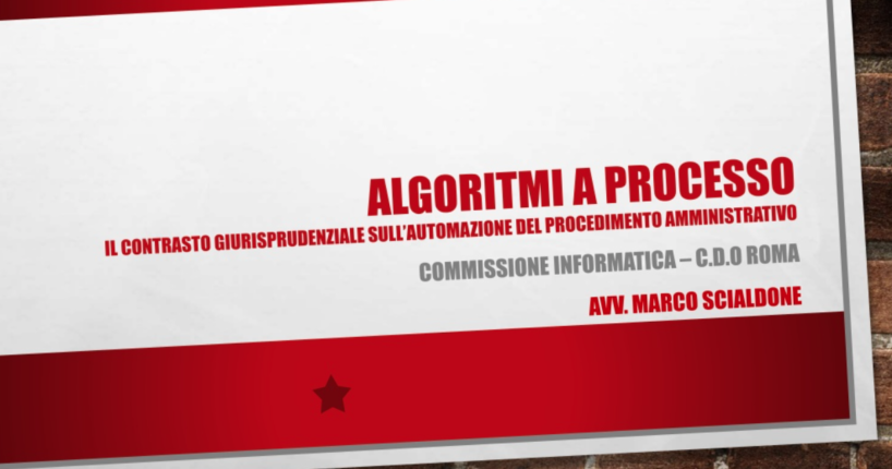 Algoritmi e diritto